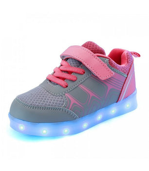 Kids & Toddlers Led Sneakers Light Up Shoes Pink
