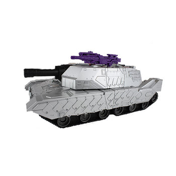 Silver Robot Tank Remote Control Transforming Autobot - On My Wheels