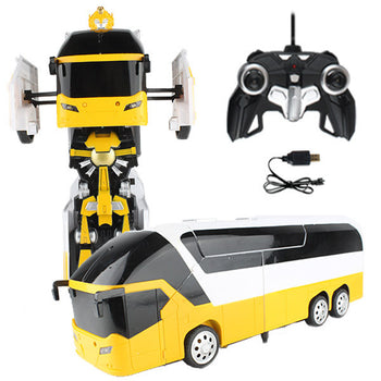 Yellow Robot Remote Control Bus Transforming Autobot - On My Wheels