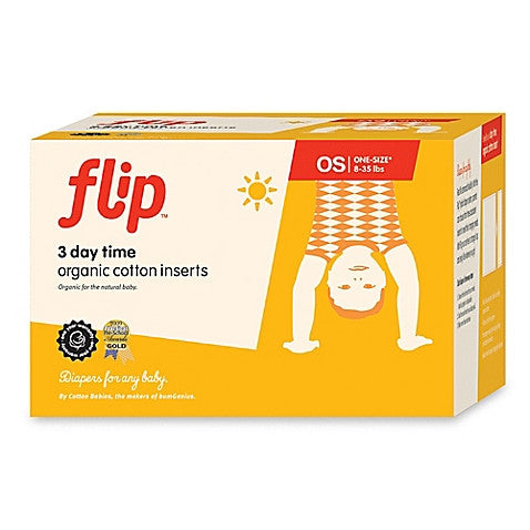 Flip 3 Day Time Organic Cotton Inserts