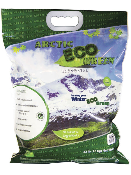 arctic eco green child and pet safe eco friendly all natural ice melt 22 pound bag - rocky mountain bioag