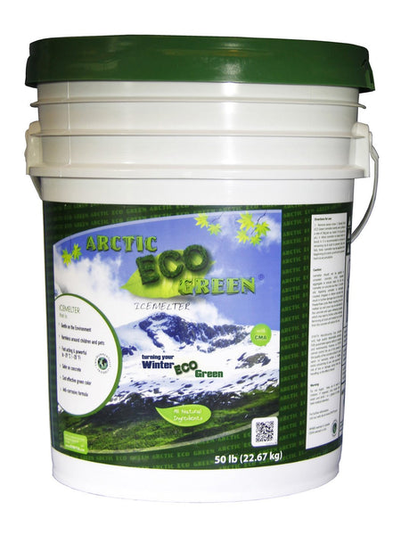 arctic eco green child and pet safe eco friendly all natural ice melt 50 pound pail - rocky mountain bioag