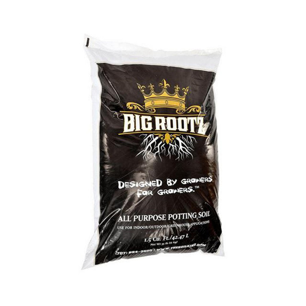 the soil king big rootz bag front 1.5 cubic foot rocky mountain bio ag