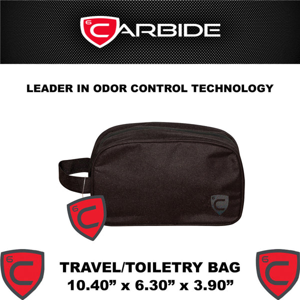 CARBIDE Travel Bag Stash Bag Odor Control Carrying Case With Dimensions - Rocky Mountain Bio-Ag