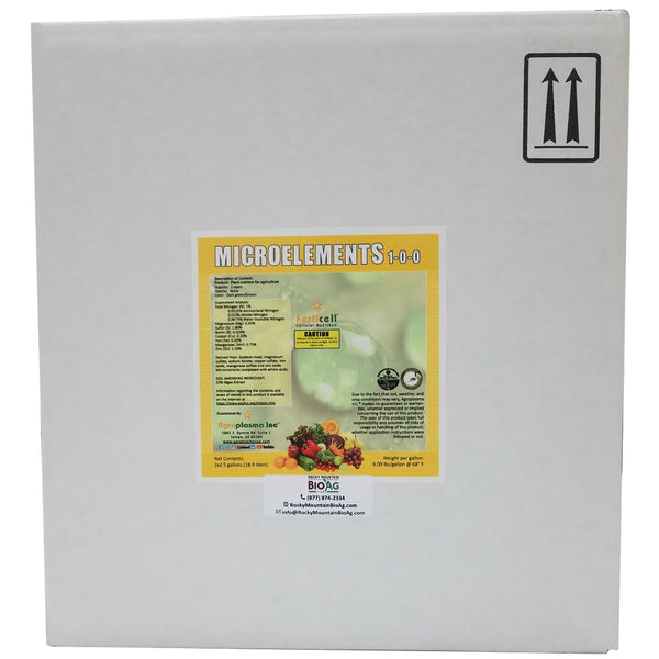 ferticell usa 2 x 2.5 gallon case Microelements 1-0-0 micronutrients organic fertilizer rocky mountain bioag