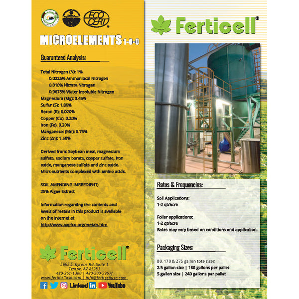 ferticell usa microelements 1-0-0 micronutrients organic fertilizer cut sheet rocky mountain bioag page 2