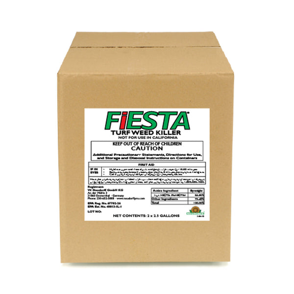 fiesta selective post emergent turf weed killer 2 x 2.5 gallon case rocky mountain bioag