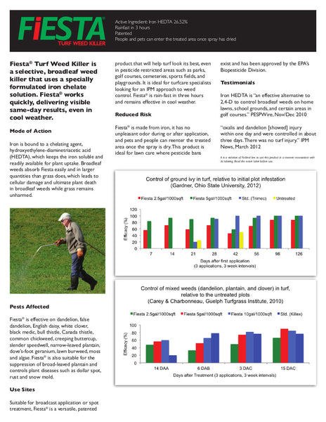 fiesta selective post emergent turf weed killer information sheet rocky mountain bioag