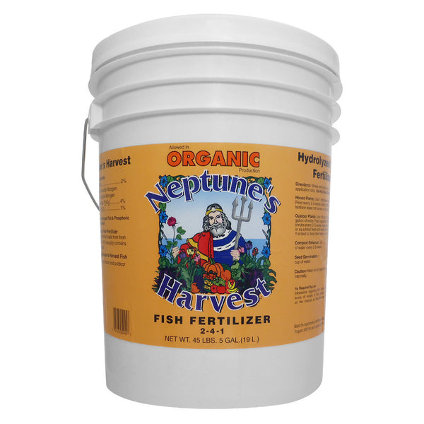 5 Gallon, 19 Liter Neptune's Harvest Fish Hydrolysate 2-4-1 Fish Fertilizer - Rocky Mountain Bio-Ag