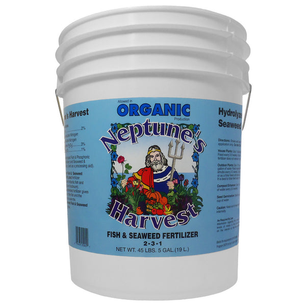 5 Gallon, 19 Liter Neptune's Harvest Fish and Seaweed Fertilizer 2-3-1 Fish Hydrolysate and Seaweed - Rocky Mountain Bio-Ag