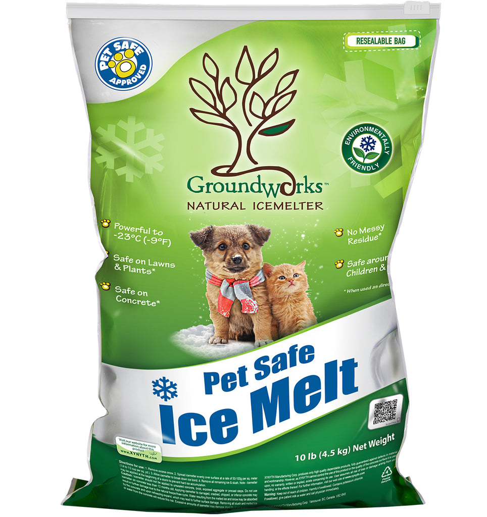 groundworks natural pet safe eco friendly ice melt 10 pound bag - rocky mountain bioag