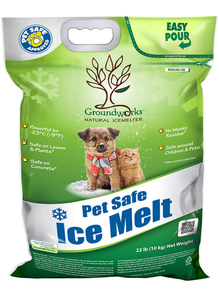 groundworks natural pet safe eco friendly ice melt 22 pound bag - rocky mountain bioag