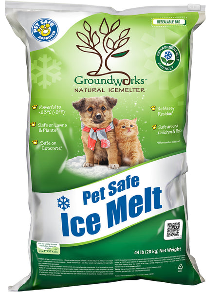 groundworks natural pet safe eco friendly ice melt 44 pound bag - rocky mountain bioag