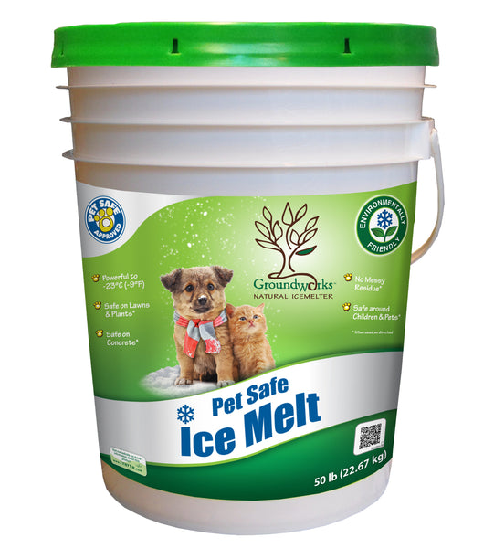 groundworks natural pet safe eco friendly ice melt 50 pound pail - rocky mountain bioag