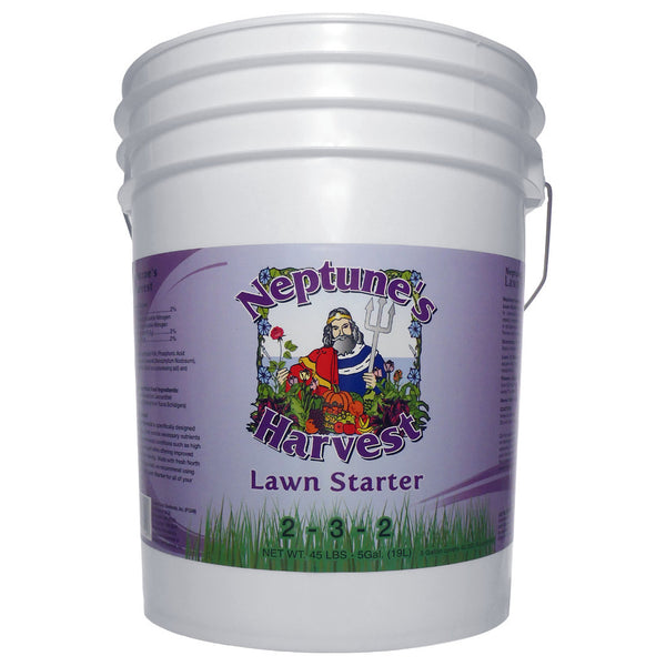 5 Gallon, 19 Liter Neptune's Harvest Lawn Starter Fertilizer 2-3-2 Fish Hydrolysate, Seaweed, Yucca Extract, Molasses, Humic Acid - Rocky Mountain Bio-Ag