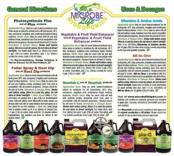 Microbe Life Hydroponics General Directions, Uses & Dosages - Rocky Mountain Bio-Ag