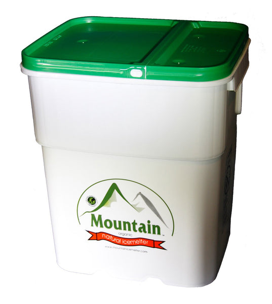 mountain organic natural pet safe eco friendly ice melt 110 pound pail - rocky mountain bioag