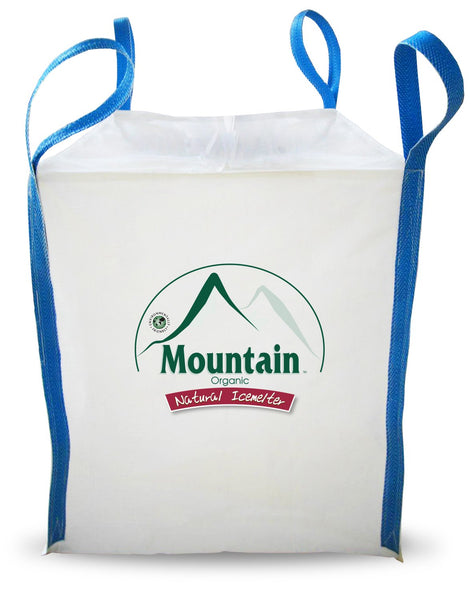 mountain organic natural pet safe eco friendly ice melt 1 metric ton 2204 pound tote sack - rocky mountain bioag