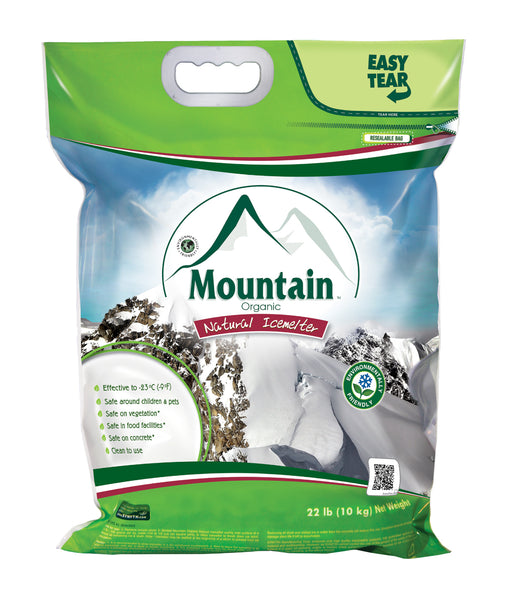 mountain organic natural pet safe eco friendly ice melt 22 pound bag - rocky mountain bioag