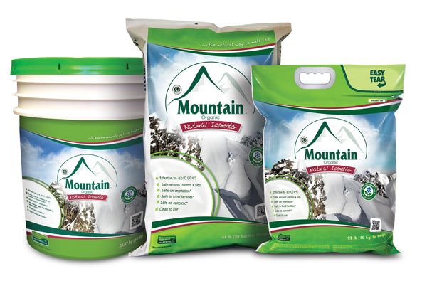 mountain organic natural pet safe eco friendly ice melt family  - rocky mountain bioag