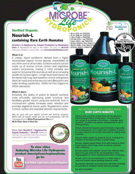 Microbe Life Nourish-L Concentrated Compost Extract Humic Acid About - Rocky Mountain Bio-Ag