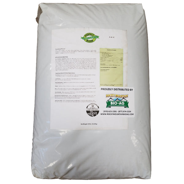 Perfect Blend Organic 4-4-4 Fertilizer 50 Pound - 22.67 Kilogram Bag - Rocky Mountain Bio-Ag