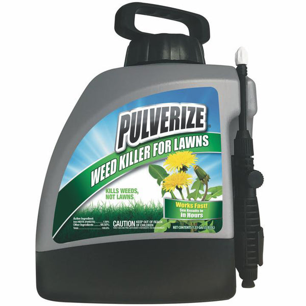 pulverize selective weed killer for turf and lawns 1 gallon ready to use with pump sprayer  rocky mountain bioag