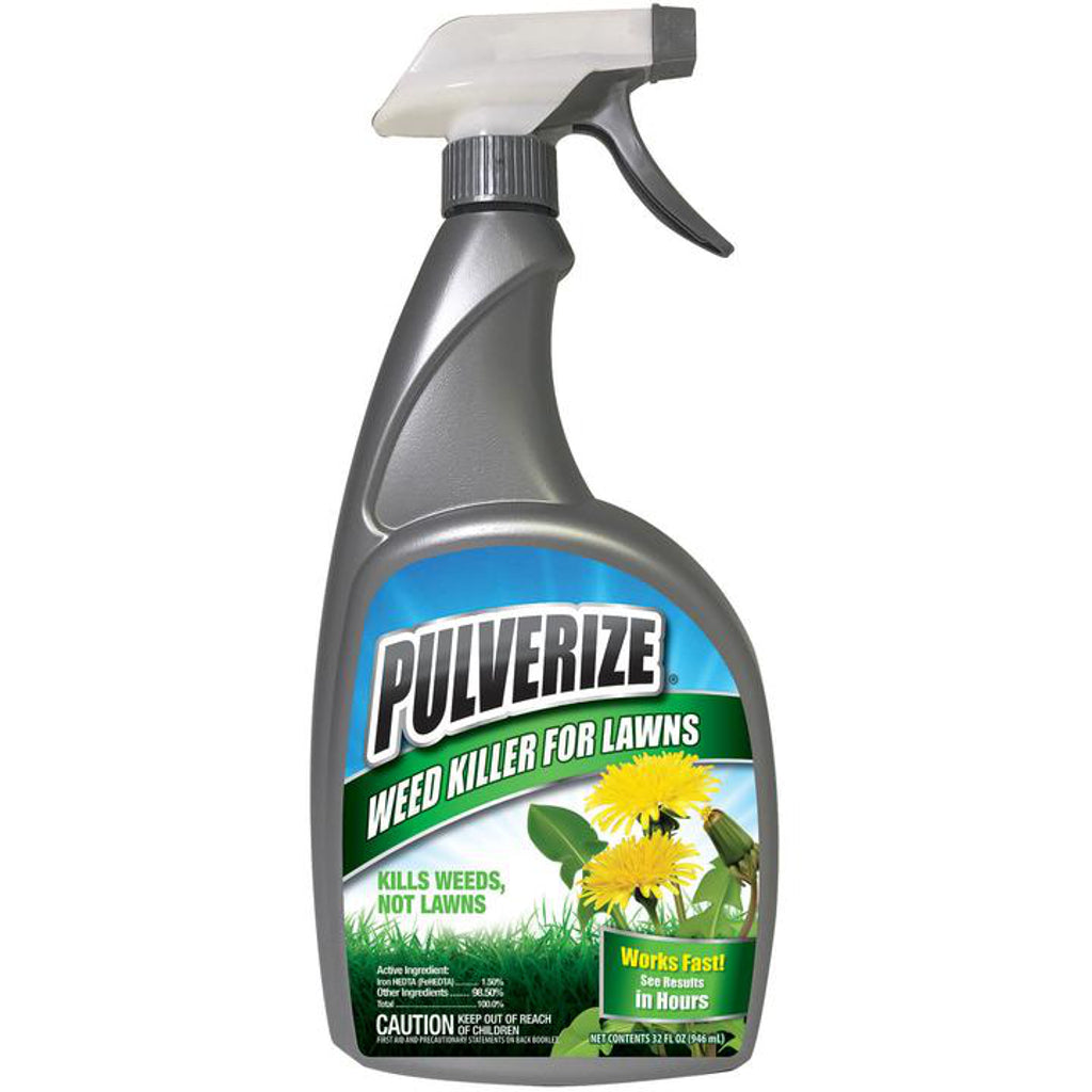 pulverize selective weed killer for turf and lawns 32 ounce ready to use spray bottle rocky mountain bioag