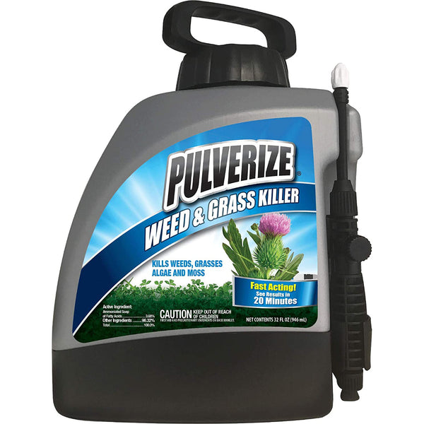 pulverize non-selective weed and grass killer 1 gallon ready to use spray bottle rocky mountain bioag