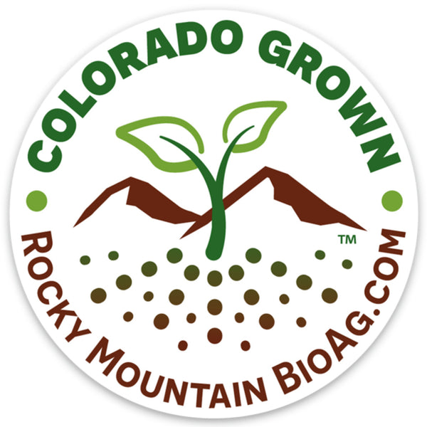 rocky mountain bioag colorado grown three inch durable vinyl sticker
