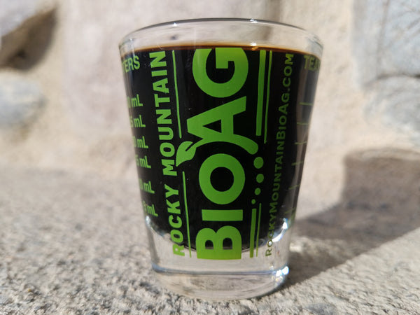 Rocky Mounain BioAg Mesuring Shot Glass