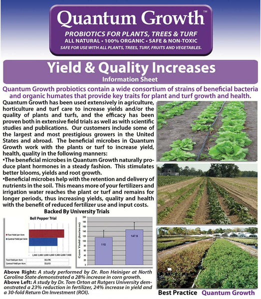 Quantum Growth Yield and Quality Increases - Rocky Mountain Bio-Ag