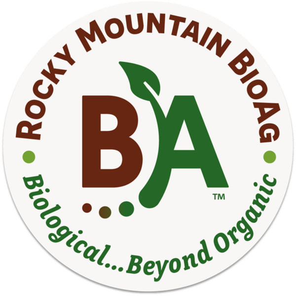rocky mountain bioag biological beyond organic three inch durable vinyl sticker