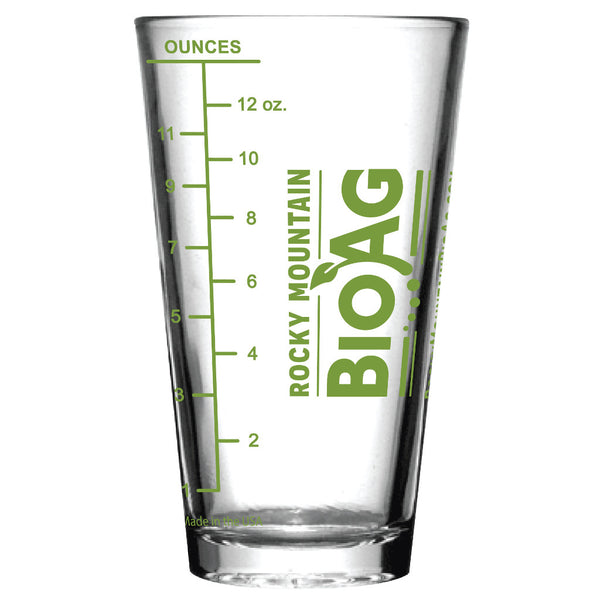 Rocky Mounain BioAg Mesuring Pint Glass