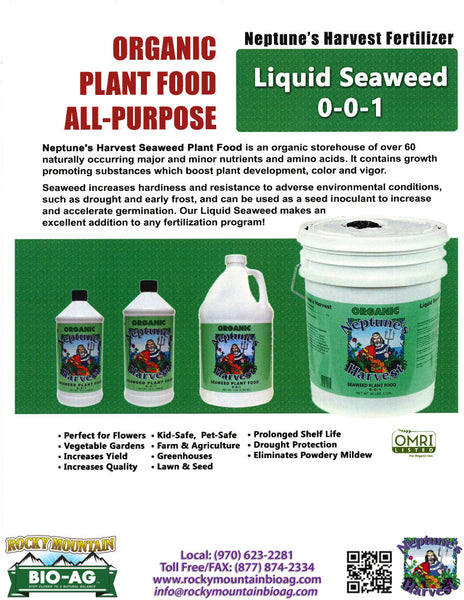 Seaweed Sales Sheet Neptune's Harvest - Rocky Mountain Bio-Ag