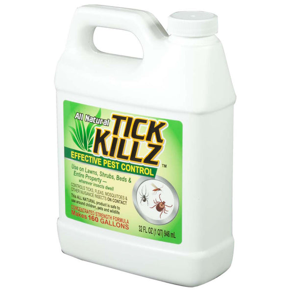 1 Quart, 32 Ounce Tick Killz All Natural Effective Pest Control Concentrate - Rocky Mountain Bio-Ag