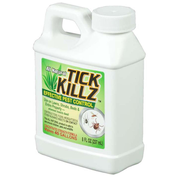 1/2 Pint, 8 Ounce Tick Killz All Natural Effective Pest Control Concentrate - Rocky Mountain Bio-Ag