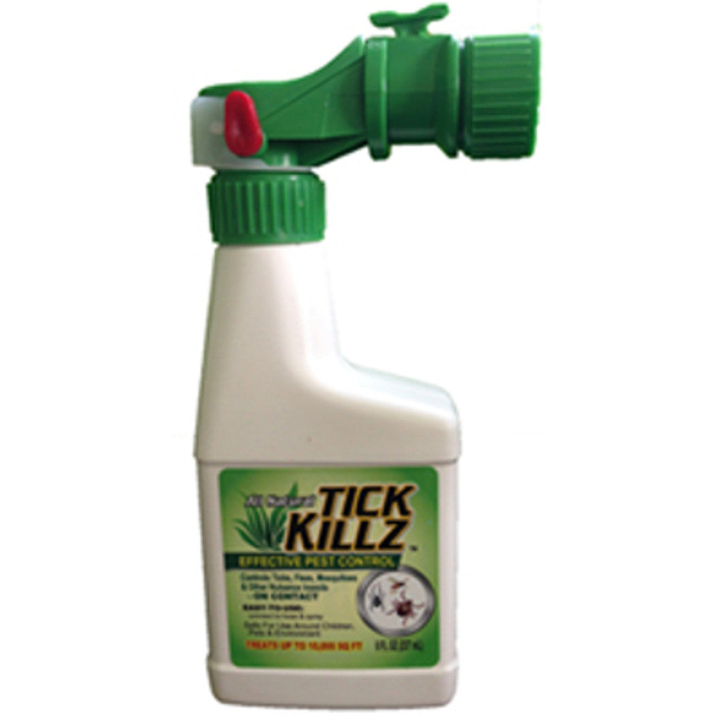 1/2 Pint, 8 Ounce Tick Killz All Natural Effective Pest Control Hose End Sprayer - Rocky Mountain Bio-Ag