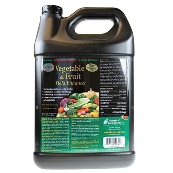 1 Gallon, 128 Ounce Microbe Life Hydroponics Vegetable and Fruit Yield Enhancer Refill - Rocky Mountain Bio-Ag