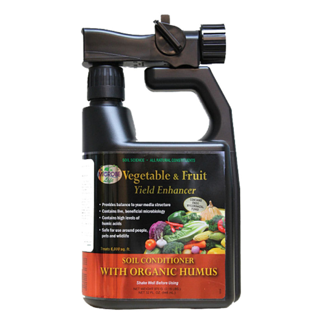 1 Quart, 32 Ounce Microbe Life Hydroponics Vegetable and Fruit Yield Enhancer Hose End Sprayer - Rocky Mountain Bio-Ag