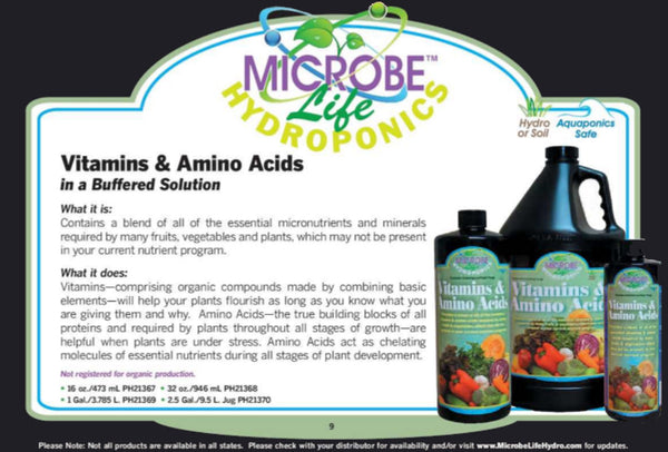 Microbe Life Hydroponics Vitamins & Amino Acids About - Rocky Mountain Bio-Ag