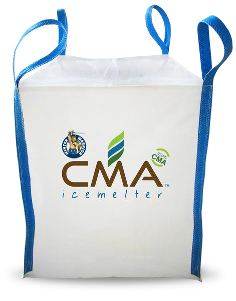 winter warrior cma calcium magnesium acetate biodegradable leed compliant non-corrosive chloride and nitrogen free eco friendly ice melt 1 metric ton tote - rocky mountain bioag