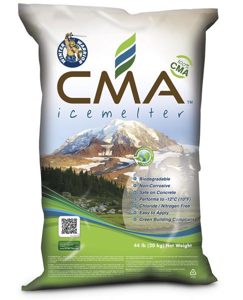winter warrior cma calcium magnesium acetate biodegradable leed compliant non-corrosive chloride and nitrogen free eco friendly ice melt 44 pound bag - rocky mountain bioag