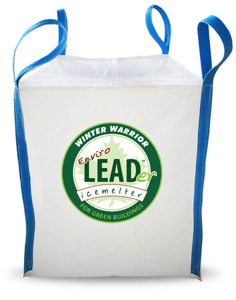 winter warrior enviro leader leed compliant eco friendly ice melt 1 metric ton 2204 pound tote sack - rocky mountain bioag