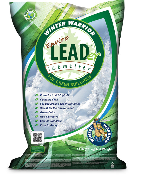winter warrior enviro leader leed compliant eco friendly ice melt 44 pound bag - rocky mountain bioag