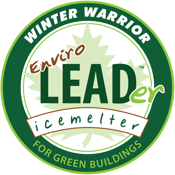 winter warrior enviro leader leed compliant eco friendly ice melt logo - rocky mountain bioag