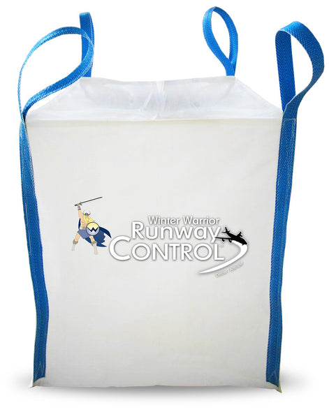 winter warrior runway control leed compliant eco friendly ice melt 1 metric ton 2204 pound tote sack - rocky mountain bioag