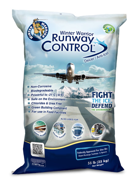 winter warrior runway control leed compliant eco friendly ice melt 55 pound bag - rocky mountain bioag
