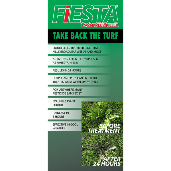 fiesta selective post emergent turf weed killer fact card rocky mountain bioag