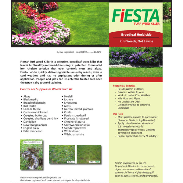 Fiesta Weed Killer for Turf and Lawns